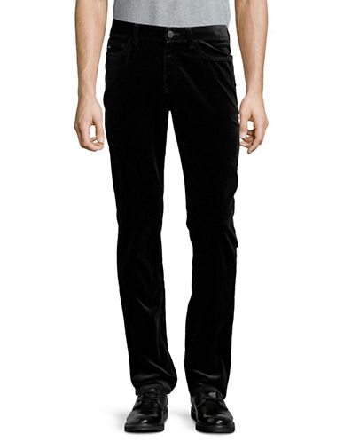 Michael Kors Slim-Fit Velvet Pants-BLACK-32X34