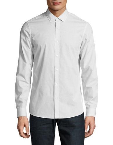 Michael Kors Slim-Fit Micro-Dot Sport Shirt-BLACK-Medium