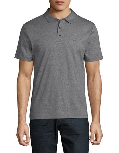 Michael Kors Sleek Cotton Polo-CHARCOAL-Medium