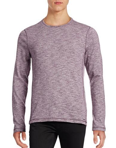 Michael Kors Heathered Crew Neck Shirt-BLACK-Large