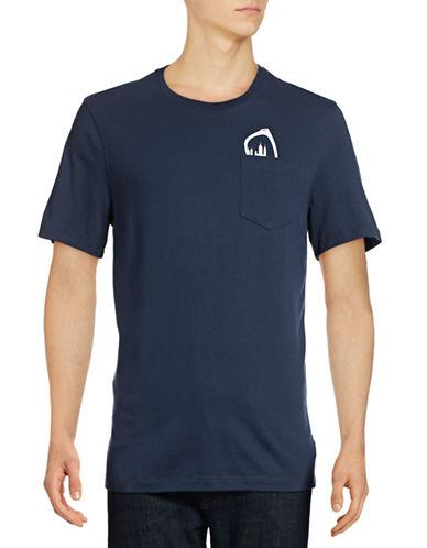 Michael Kors Sunglasses Pocket T-Shirt-BLUE-X-Large 88874298_BLUE_X-Large