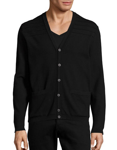 Michael Kors Padded Back Cardigan-BLACK-Small