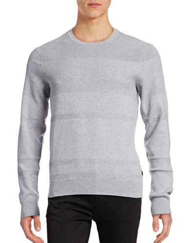 Michael Kors Honeycomb Stripe Sweater-GREY-Small 88874315_GREY_Small