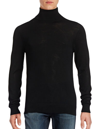 Michael Kors Merino Turtleneck Sweater-BLACK-Large