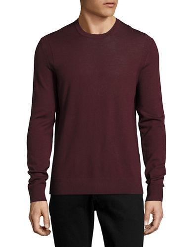 Michael Kors Merino Wool Crew Neck Sweater-RED-X-Large