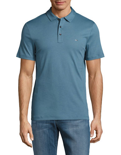 Michael Kors Sleek MK Polo Shirt-BLUE-X-Large
