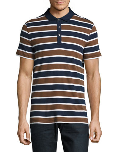 Michael Kors Towel Stripe Polo-COPPER-Large