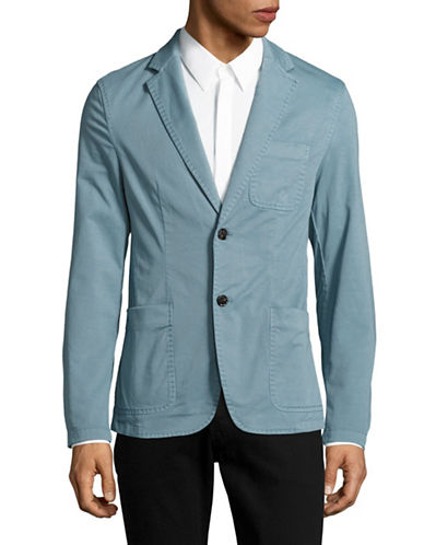 Michael Kors Garment-Dyed Blazer-BLUE-38