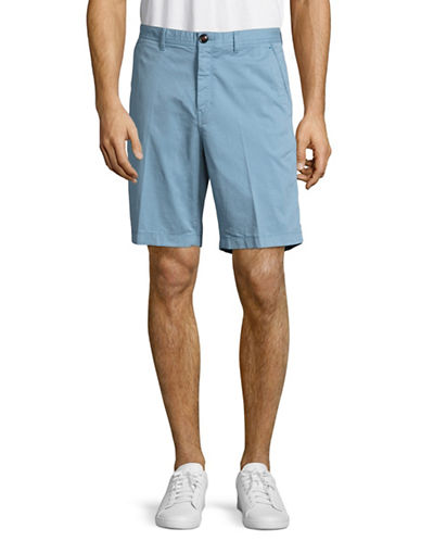 Michael Kors Slim Garment Dyed Shorts-BLUE-34