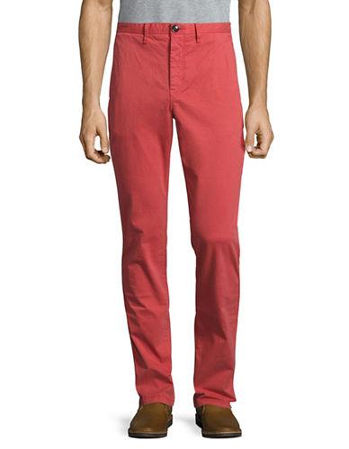 Michael Kors Slim-Fit Chino Pants-RED-36X34