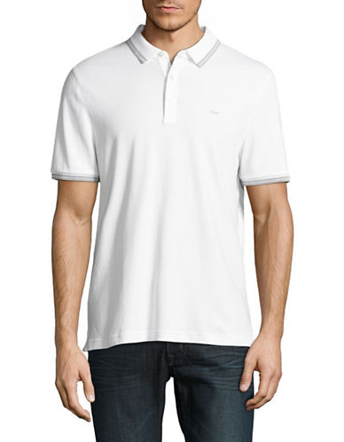 Michael Kors Twin-Tipped Polo-WHITE-Small