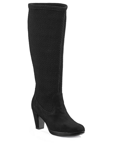 Blondo Iona Tall Dress Boots-BLACK SUEDE-7