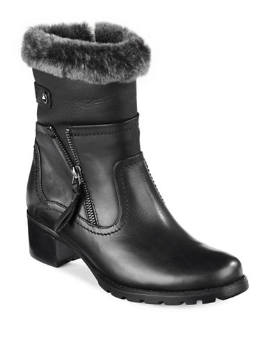 Blondo Leather Sheepskin-Trim Boots-BLACK-7