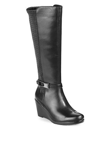 Blondo Lana Tall Textured Leather Boots-BLACK-8