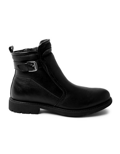 Blondo Waterproof Leather Ankle Boots-BLACK-9