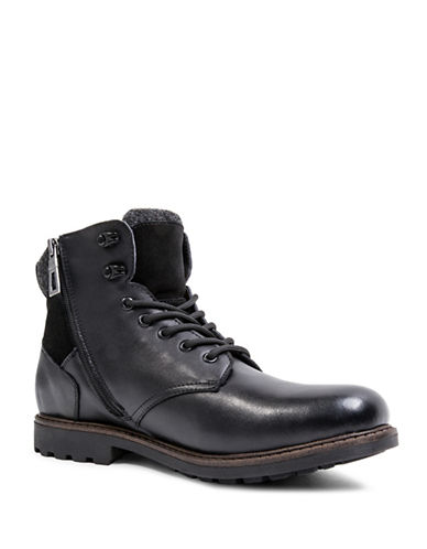 Blondo Searle Waterproof Lace-Up Leather Boots-BLACK-10.5