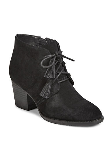 Blondo Nivia Suede Lace-Up Booties-BLACK-7.5