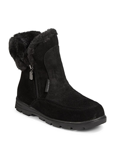 Blondo Suede Faux-Fur Trimmed Winter Boots-BLACK-10