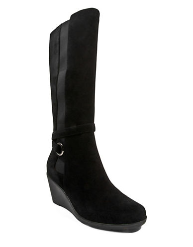 Blondo Lioras Tall Suede Boots-BLACK-7