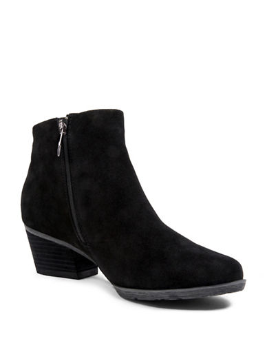 Blondo Ibiza Suede Booties-BLACK-7.5
