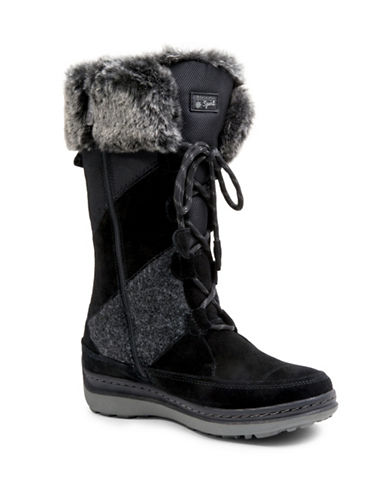 Blondo Mid-Calf Faux-Fur Trimmed Winter Boots-BLACK-9