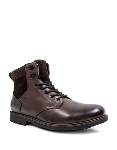Blondo Searle Waterproof Lace-Up Leather Boots-BROWN-10.5
