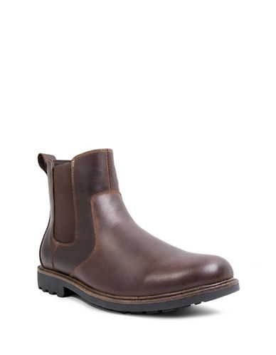 Blondo Shadow Leather Boots-BROWN-13