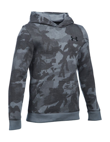 Under Armour Titan Fleece Printed Hoodie-STEEL-Medium 88509528_STEEL_Medium