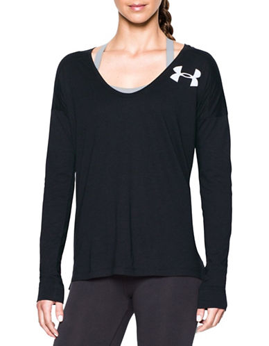 Under Armour Favorite Word Mark Tee-BLACK-X-Small 88843537_BLACK_X-Small