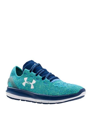 Under Armour Womens Speedform Slingride Dyneema Running Shoes-GREEN-8.5