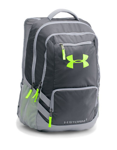 Under Armour Storm Hustle II Backpack-STEEL GREY-One Size 88510090_STEEL GREY_One Size