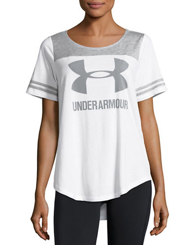 Under Armour Scoop Neck Baseball T-Shirt-WHITE-Small 88511684_WHITE_Small
