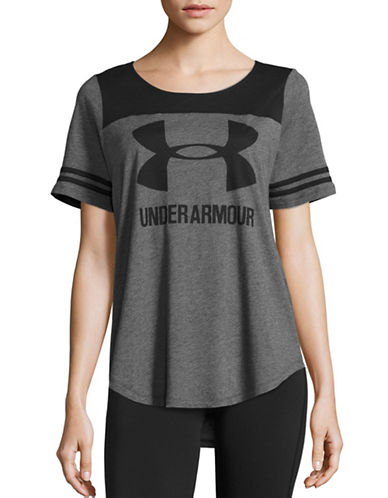 Under Armour Scoop Neck Baseball T-Shirt-BLACK-X-Small 88511678_BLACK_X-Small