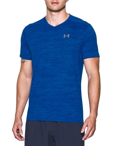 Under Armour Streaker Run V-Neck Short Sleeve T-Shirt-ULTRA BLUE-X-Large 88443661_ULTRA BLUE_X-Large