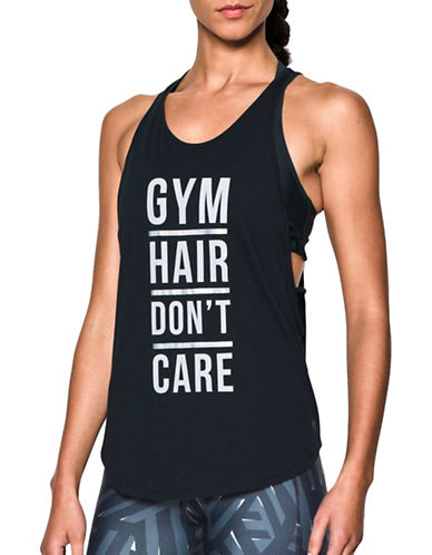 Under Armour Gym Hair Strappy Tank-BLACK-Small 88846631_BLACK_Small