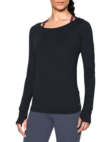 Under Armour Swing Keyhole Top-BLACK-X-Small 88594098_BLACK_X-Small