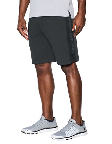 Under Armour Sportstyle Fleece Graphic Shorts-BLACK-Large 89055168_BLACK_Large