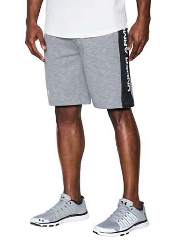 Under Armour Sportstyle Fleece Graphic Shorts-GREY-Medium 89055172_GREY_Medium