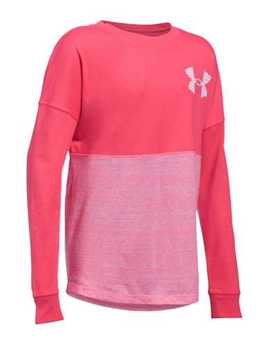 Under Armour UA Varsity Crew Top-PINK-Small 88981436_PINK_Small