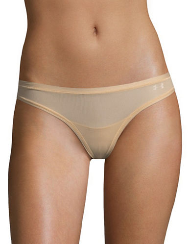 Under Armour Pure Stretch Sheer Bikini Briefs-BROWN-X-Small