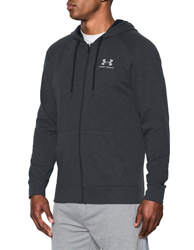 Under Armour Sportstyle Fleece Zip-Up Hoodie-BLACK-Large 89055128_BLACK_Large
