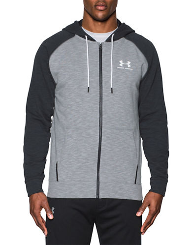 Under Armour Sportstyle Fleece Full Zip Sweatshirt-GREY-Medium 89055132_GREY_Medium