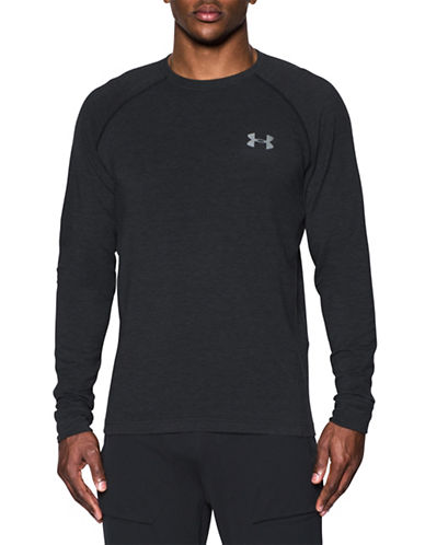 Under Armour Tech Terry Crew Neck Tee-BLACK-Large 88989922_BLACK_Large