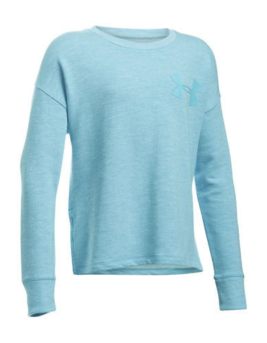 Under Armour French Terry Pullover-BLUE-X-Small 89102378_BLUE_X-Small