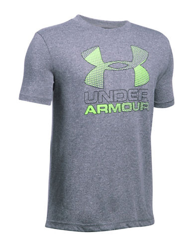 Under Armour Big Logo Hybrid 2.0 T-Shirt-SILVER-Medium 88919061_SILVER_Medium