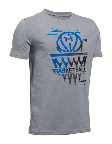 Under Armour Basketball Badge Printed Tee-GREY-Medium 89081069_GREY_Medium