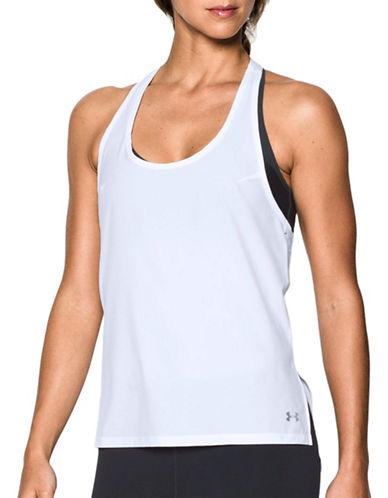 Under Armour Accelerate Tank Top-WHITE-X-Large
