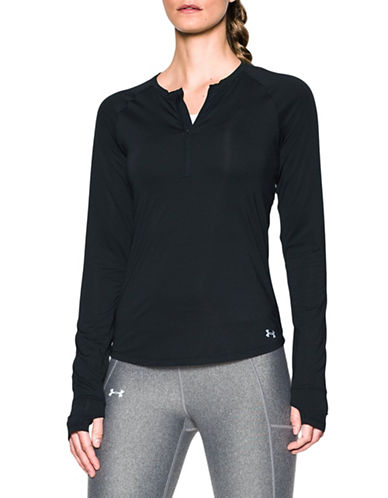 Under Armour Fly-By Half-Zip Sweatshirt-BLACK-Small 88967021_BLACK_Small