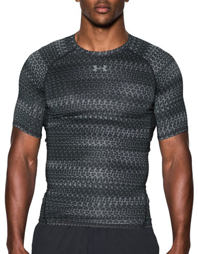 Under Armour HeatGear Armour Printed Compression T-Shirt-BLACK-Medium 88989806_BLACK_Medium