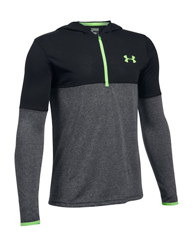 Under Armour Threadborne Three-Quarter Zip Top-BLACK-Medium 88919039_BLACK_Medium